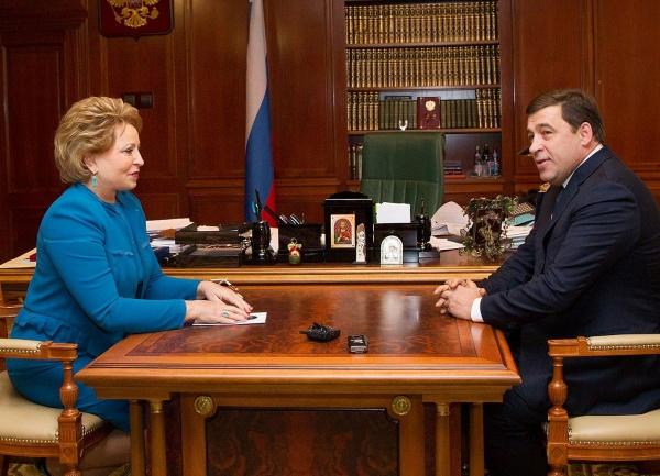 Куйвашев, Матвиенко Фото: департамент информационной политики губернатора Свердловской области
