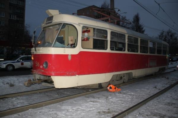 наезд трамвая на пешехода Фото: ОГИБДД УМВД России по г. Екатеринбургу