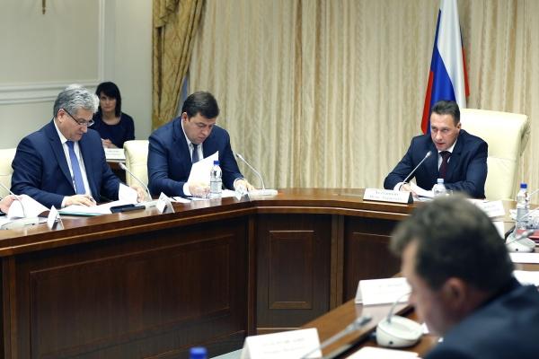 заседании Совета по вопросам образования, Куйвашев, Холманских Фото: Департамент информационной политики губернатора Свердловской области