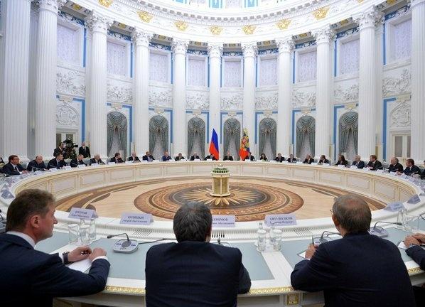 совещание с представителями бизнеса Фото:пресс-служба Кремля