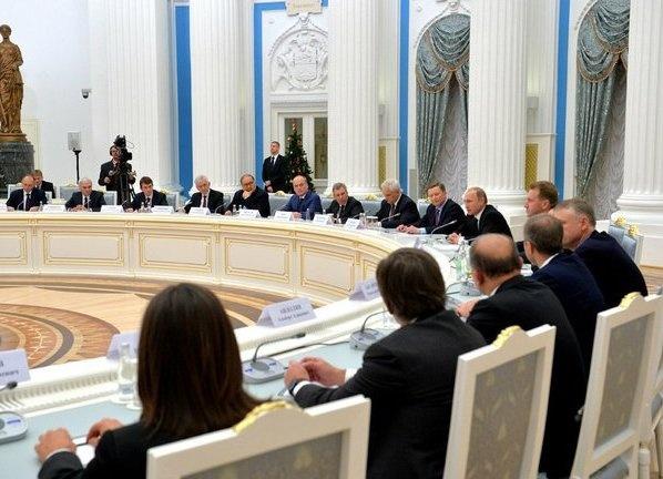 совещание с представителями бизнеса|Фото:пресс-служба Кремля