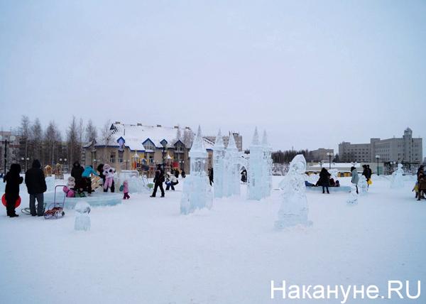 ледовый городок, Нефтеюганск Фото: Накануне.RU