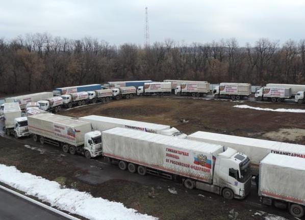 гуманитарная помощь, Донбасс, Камаз, конвой|Фото: