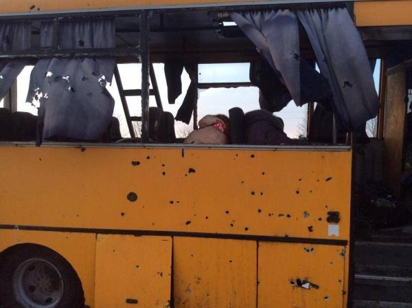 автобус, волноваха, обстрел, днр|Фото: http://i.obozrevatel.ua/