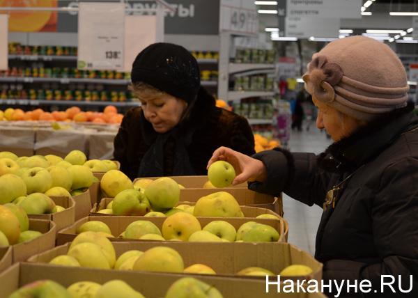 продукты, магазины, цены, яблоки, покупатель|Фото: Накануне.RU