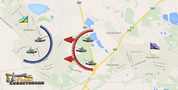 Новороссия, карта, Дебальцево|Фото: