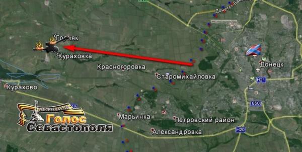 Новороссия, карта, война Фото: