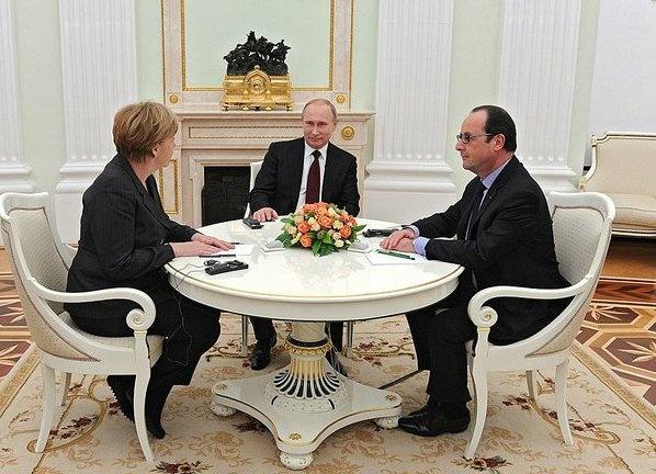 Меркель, Путин, Олланд|Фото: kremlin.ru