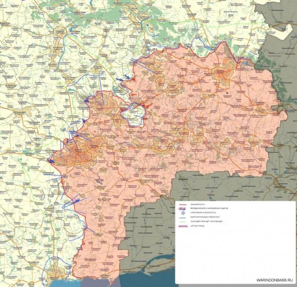 Новороссия, карта, февраль|Фото:cassad.net