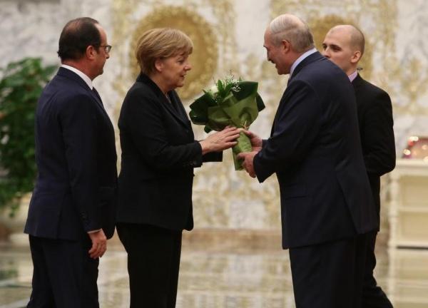 Олланд, Меркель, Лукашенко(2015)|Фото: