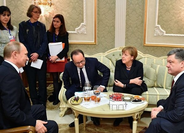Путин, Олланд, Меркель, Порошенко|Фото: kremlin.ru
