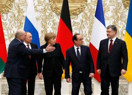 Лукашенко, Путин, Меркель, Олланд, Порошенко|Фото: