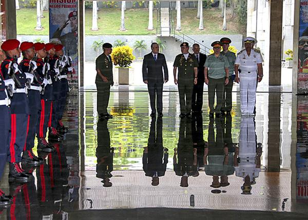 Сергей Шойгу, Владимир Падрино Лопес, Венесуэла Фото: Министерство обороны