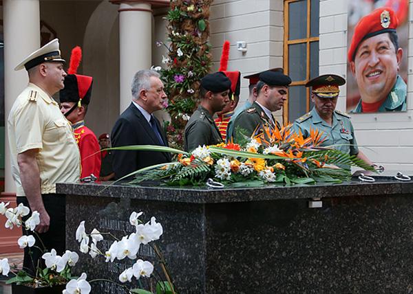 Сергей Шойгу, Владимир Падрино Лопес, Венесуэла, могила Уго Чавеса Фото: Министерство обороны