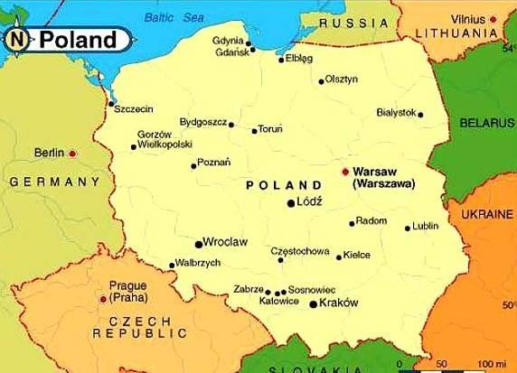 Польша, карта|Фото: