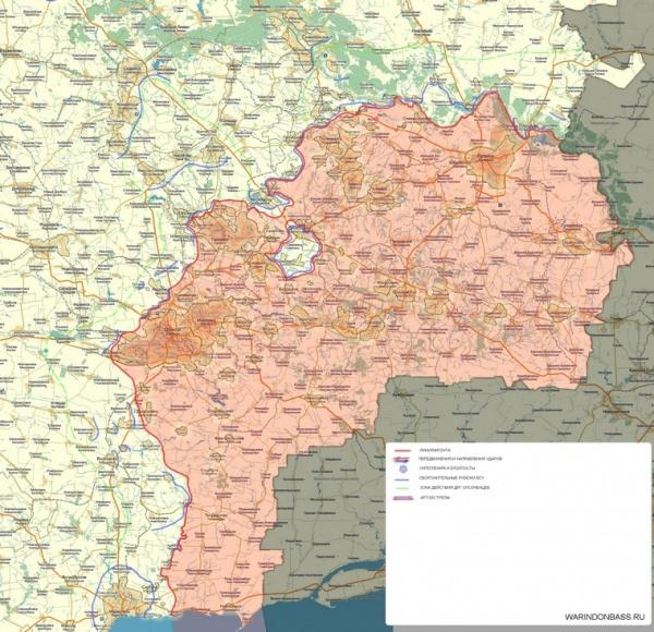 карта, Новороссия, перемирие|Фото:cassad.net