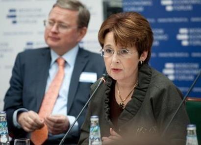 Оксана Дмитриева, Михаил Делягин|Фото: МЭФ