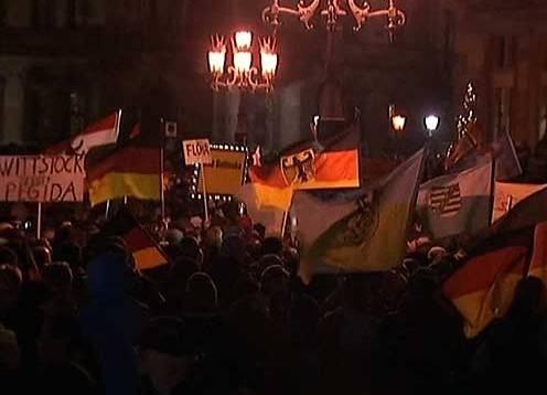 Германия, Дрезден, митинг против исламизации, европейцы-патриоты, Pegida|Фото: первый канал
