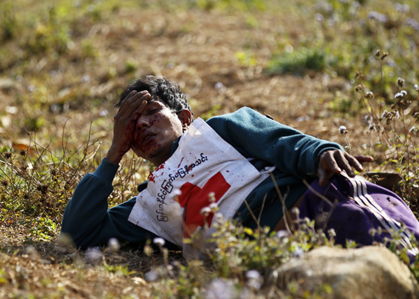 военный конфликт на северо-востоке Мьянмы|Фото: EPA/LYNN BO BO