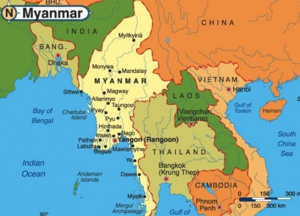 Мьянма, Бирма, Китай, Индия, Вьетнам, Лаос, Таиланд|Фото: