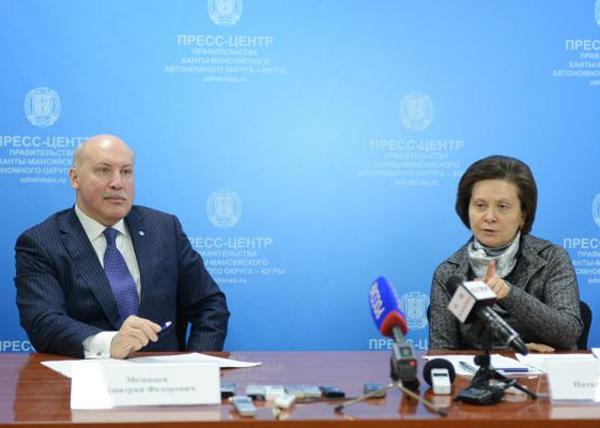 Наталья Комарова, Дмитрий Мезенцев, ШОС Фото: admhmao.ru