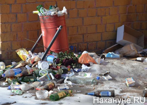Екатеринбург, весна, грязь, улицы, мусор, мусорка|Фото: Накануне.RU