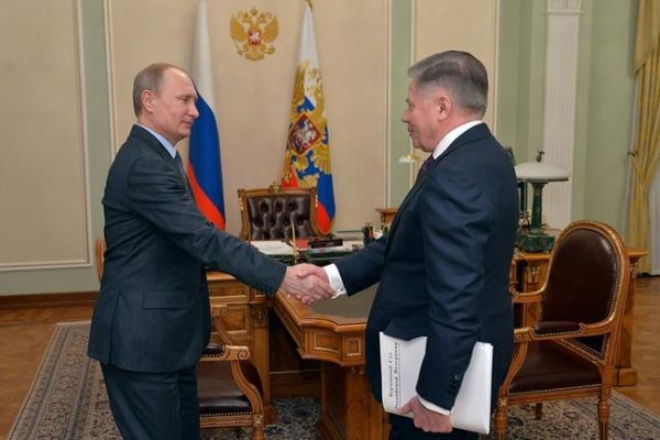 Владимир Путин, Вячеслав Лебедев|Фото:kremlin.ru