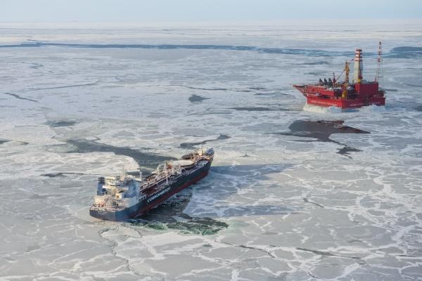 Приразломная, приразломное, арктика,  шельф, месторождение, газпром, танкер|Фото:http://shelf-neft.gazprom.ru/