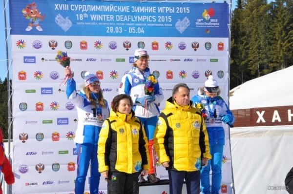 Сурдлимпийские игры, Анна Федулова, скиатлон|Фото:ugra2015.com/ru