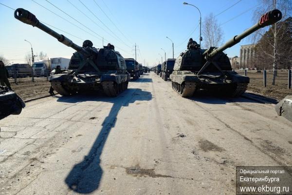 репетиция парада в Екатеринбурге, танки, военные|Фото Администрация Екатеринбурга