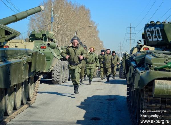 репетиция парада в Екатеринбурге, танки, военные|Фото: Администрация Екатеринбурга