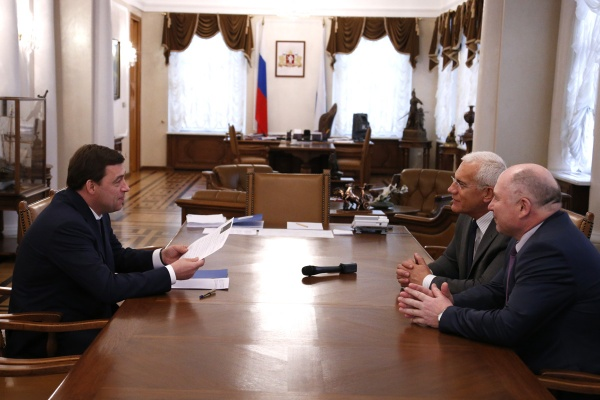 Куйвашев, Даниленко, ЦИК, встреча|Фото: Департамент информационной политики губернатора Свердловской области