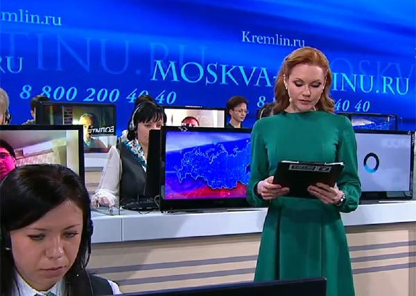 Прямая линия с Путиным|Фото: rt.com