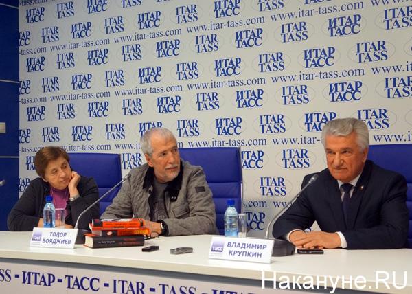 Презентация книги о Киме Филби, Тодор Бояджиев, Владимир Крупкин|Фото: Накануне.RU