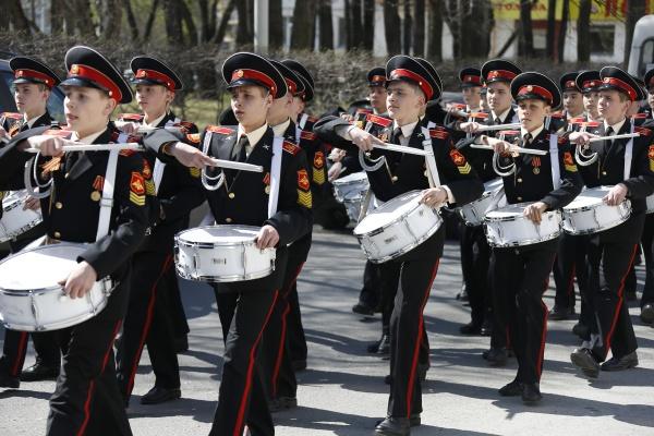 Митинг в честь 70-летия Победы в Суворовском училище|Фото: Департамент информационной политики губернатора Свердловской области