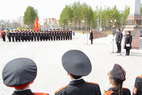 Наталья Комарова, Нягань, кадеты Фото: admhmao.ru