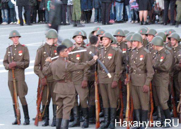 Репетиция Парада Победы, исторические роты, сухопутные войска|Фото: Накануне.RU