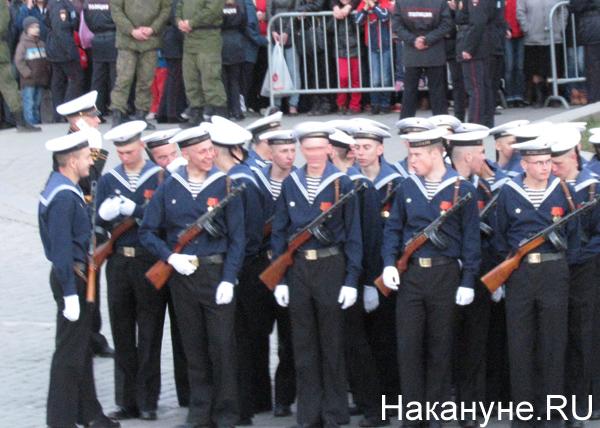Репетиция Парада Победы, исторические роты, ВМФ|Фото: Накануне.RU