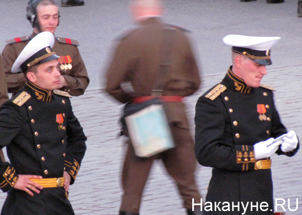 Репетиция Парада Победы, исторические роты|Фото: Накануне.RU