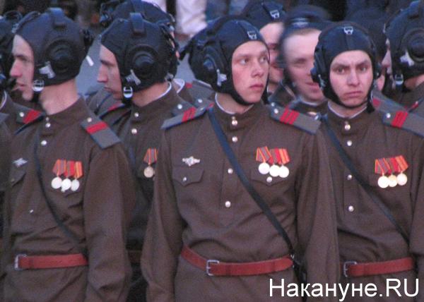 Репетиция Парада Победы, исторические роты, летчики|Фото: Накануне.RU