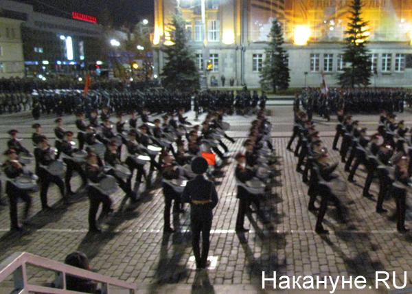 Репетиция Парада Победы, суворовские барабанщики|Фото: Накануне.RU