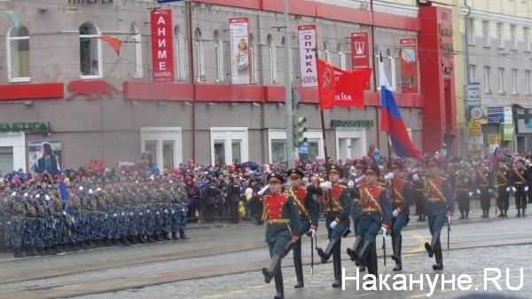 Парад, 9 мая, Екатеринбург, знаменная группа|Фото:Накануне.RU