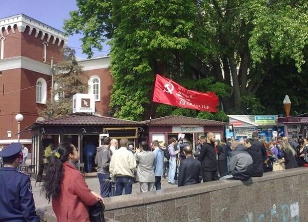 9 мая, Киев, Знамя Победы|Фото: Евгений Иванов