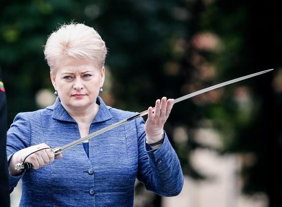 Даля Грибаускайте, сабля|Фото: mignews.com.ua/