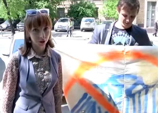 "плакат ""ватникам здесь не место"", РГГУ|Фото: www.youtube.com"