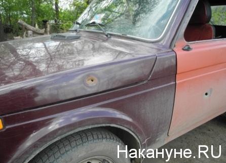 Донецк, обстрел, автомобиль|Фото: Накануне.RU