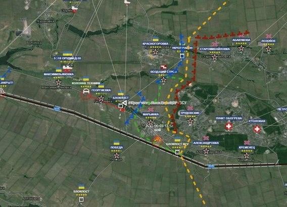 Карта, Марьинка, наступление|Фото: