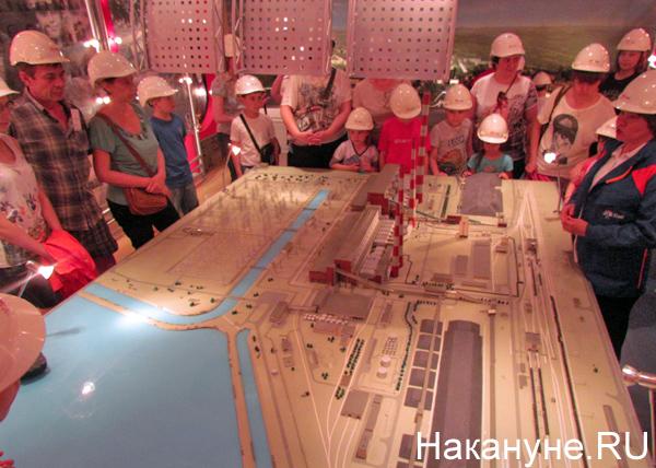 Открытая станция, 45 лет рефтинской ГРЭС, макет|Фото: Накануне.RU