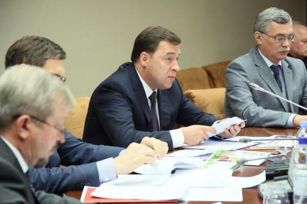 Евгений Куйвашев, встреча с полпредом Фото: Департамент информационной политики губернатора Свердловской области