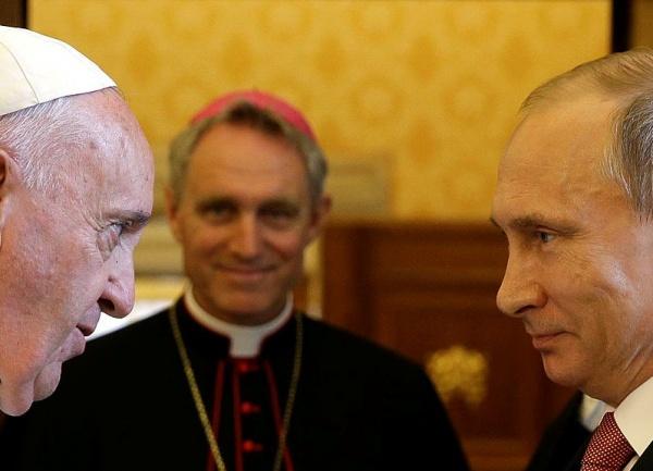 Путин, папа римский Франциск|Фото: mk.ru